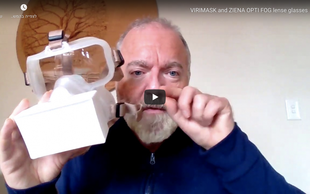 HENRY SHIRES on Virimask and ZIENA OPTI FOG lense glasses